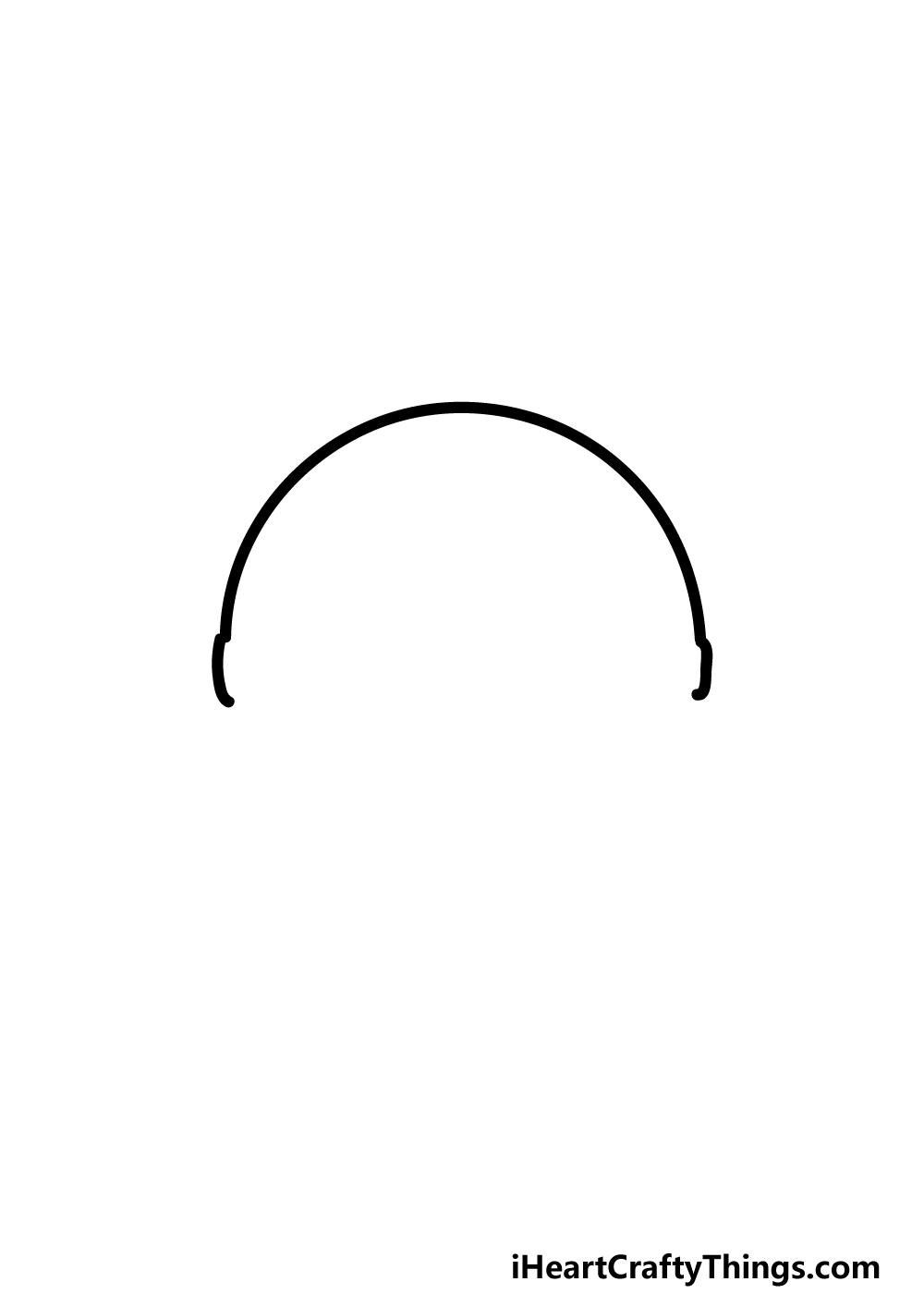 drawing pokeball step 1