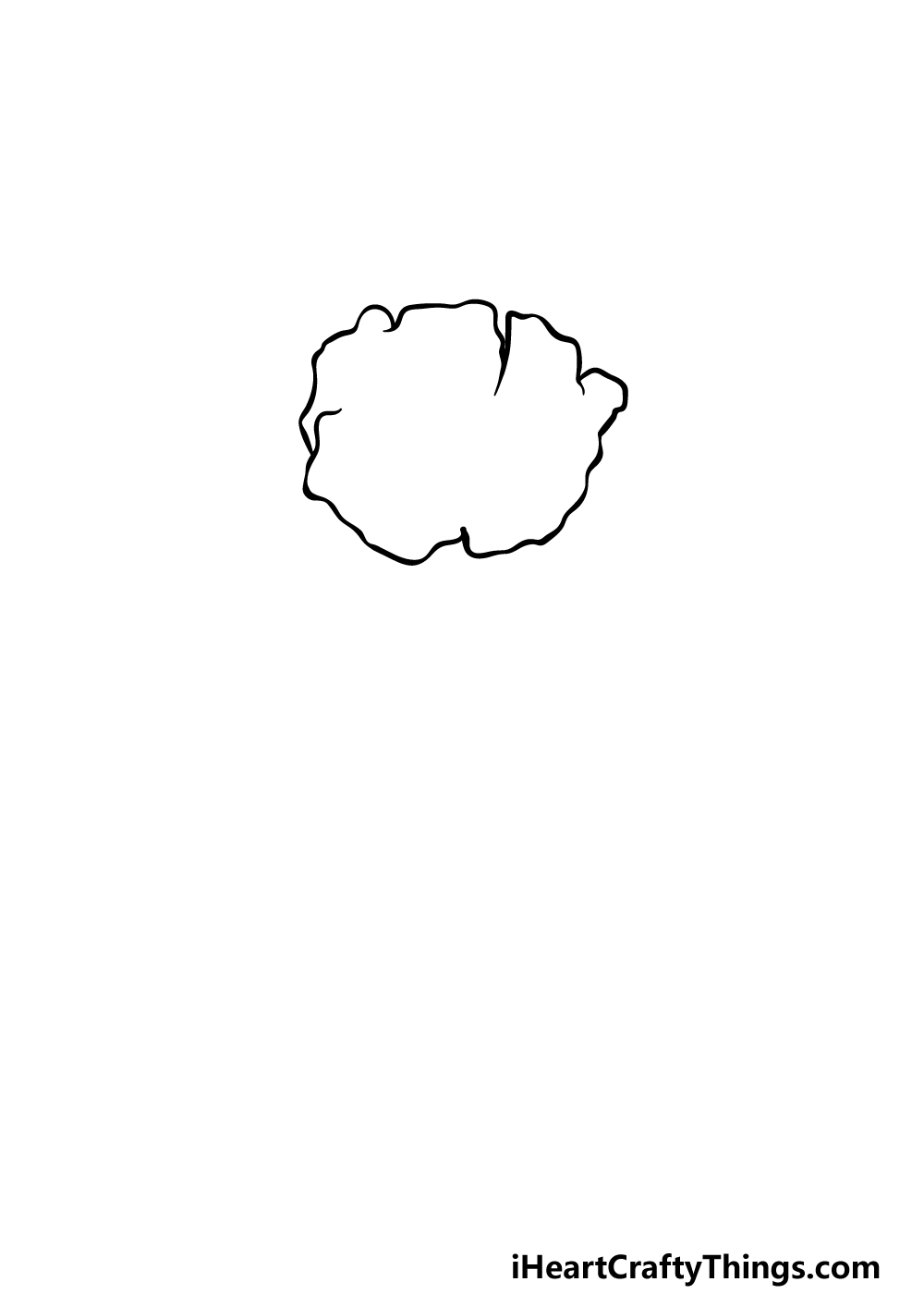drawing a poppy step 1