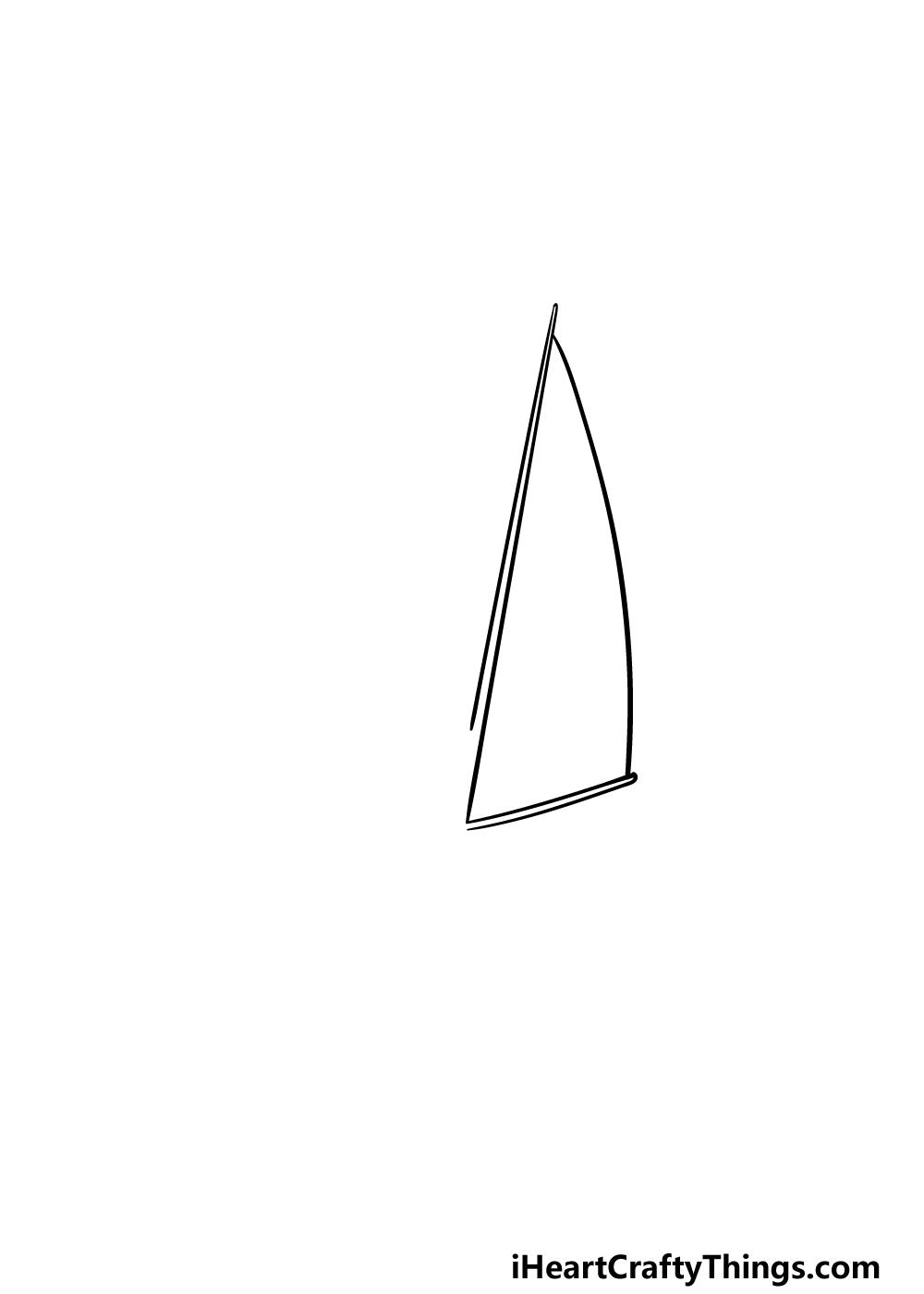 drawing a sailboat step 1