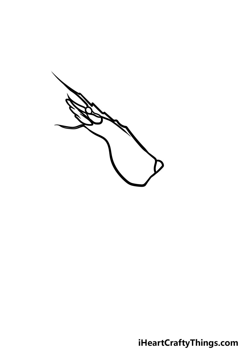 drawing a shrimp step 1