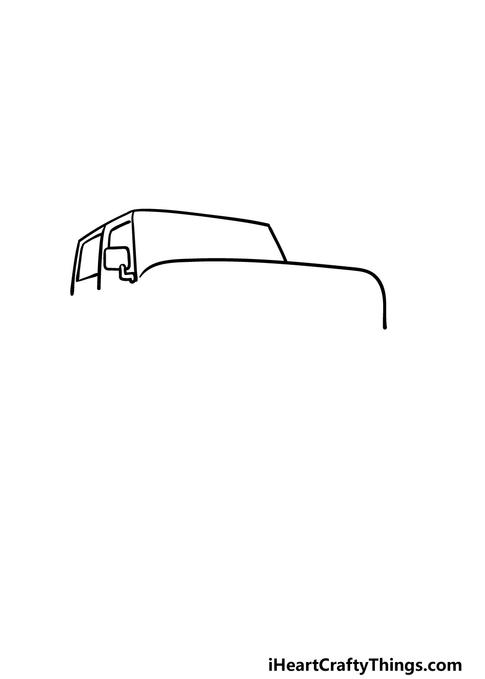 drawing a jeep step 2