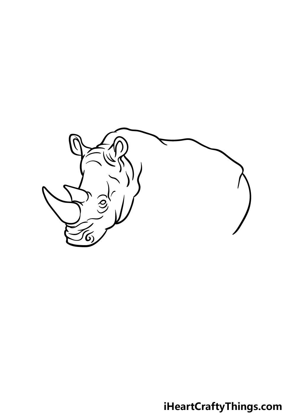 drawing a rhino step 2