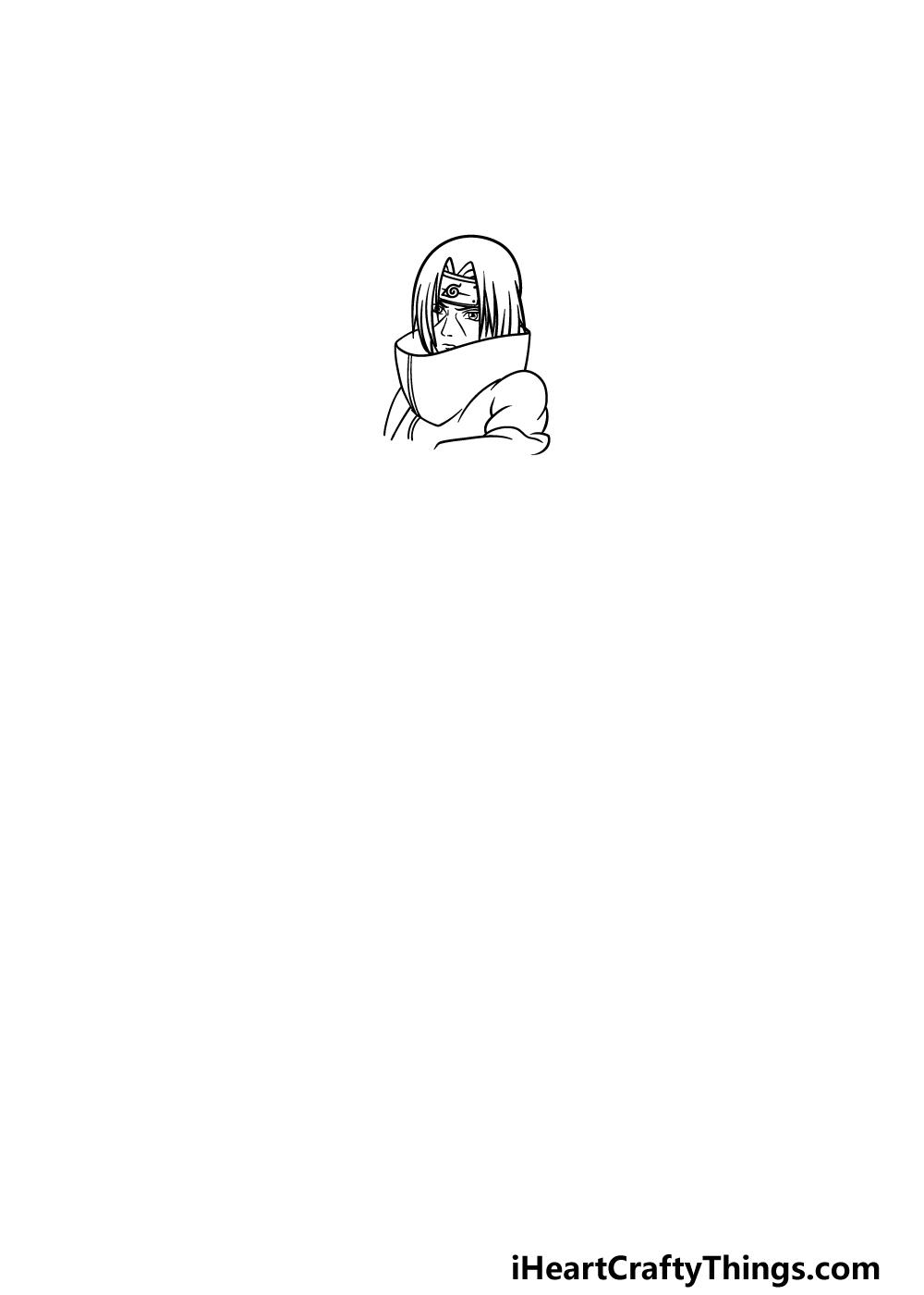 drawing Itachi step 2