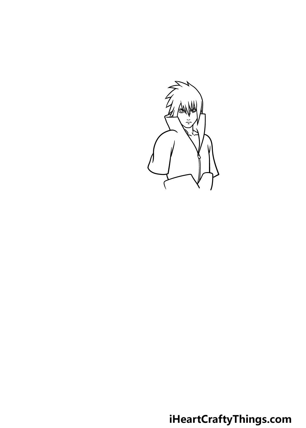drawing Sasuke step 2