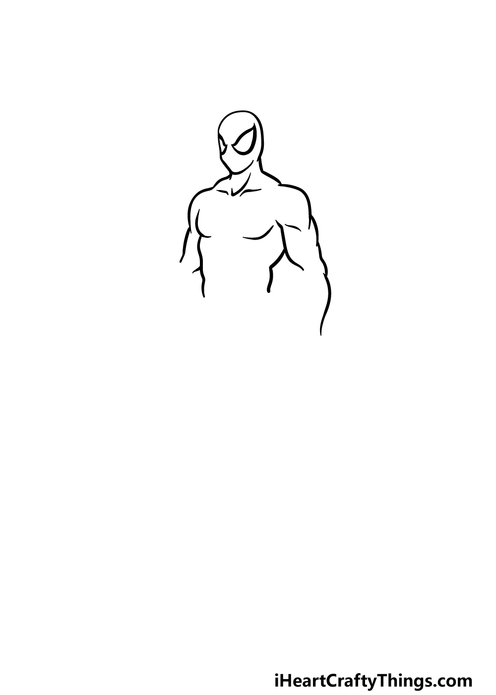 drawing Spiderman step 2