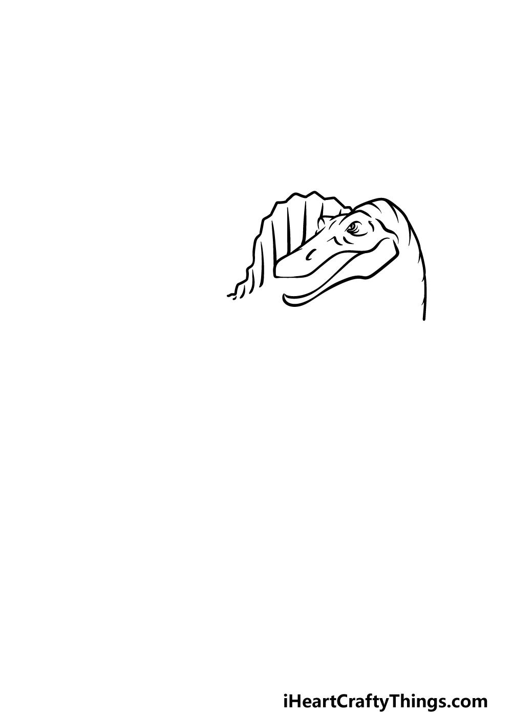 drawing Spinosaurus step 2