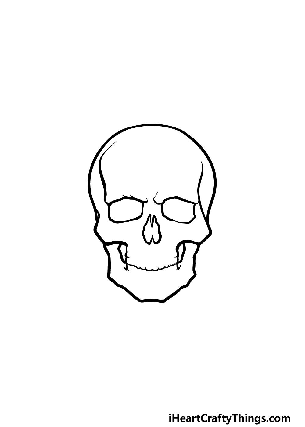drawing a skeleton head step 2