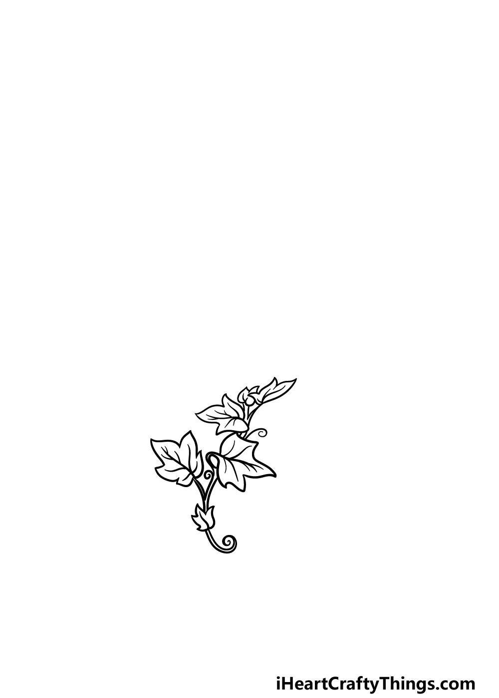 drawing vines step 2