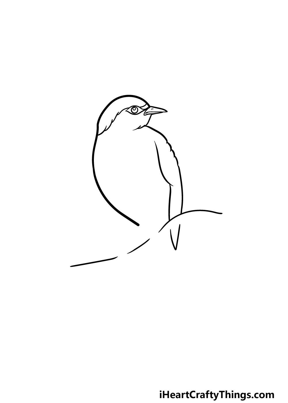 drawing a robin step 2
