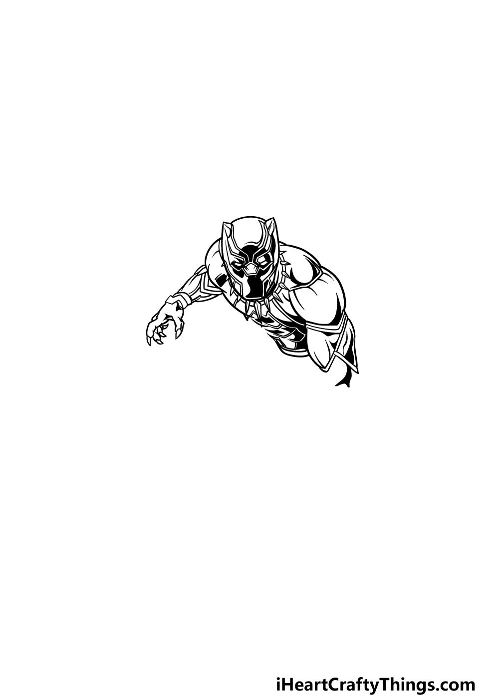 drawing Black Panther step 2