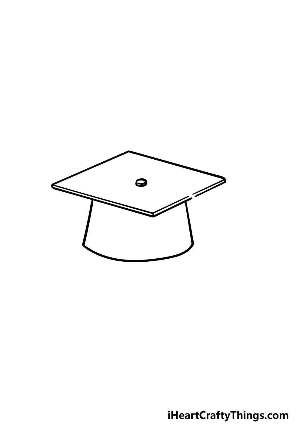 drawing Graduation Hat step 2