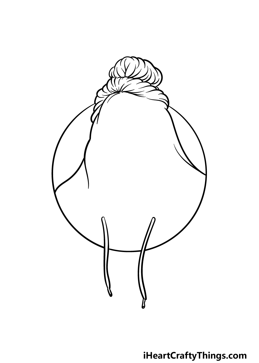 drawing Billie Eilish step 2