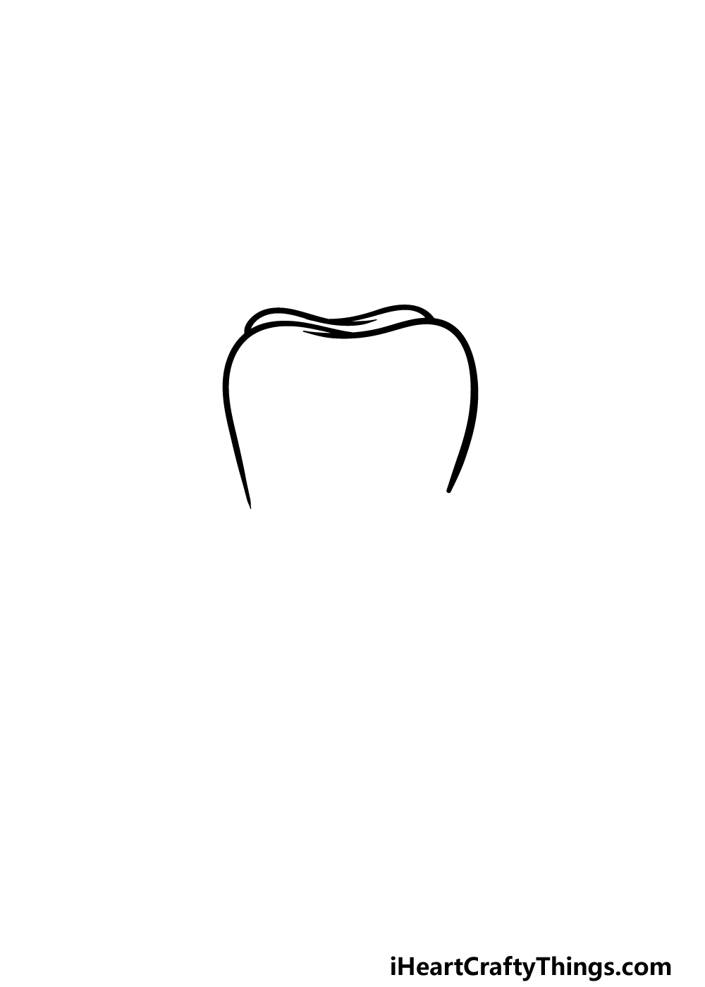 drawing a tooth step 2