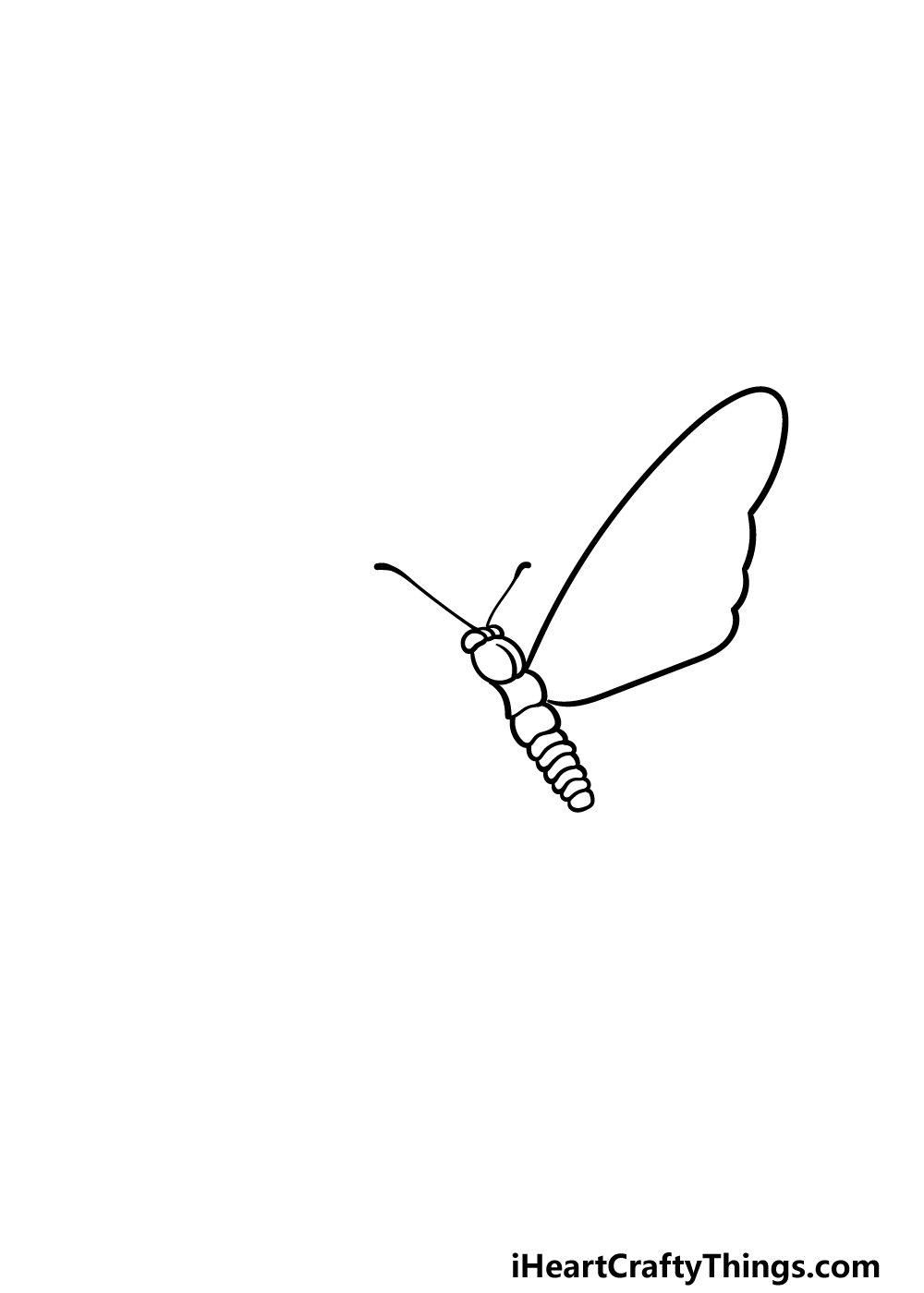 drawing  Monarch Butterfly step 2