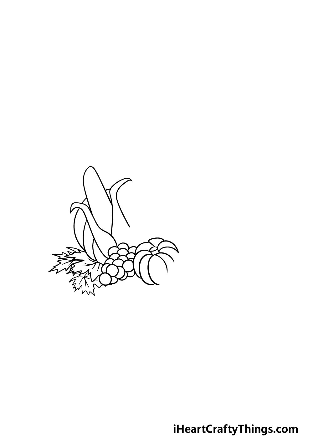 drawing Thanksgiving step 2