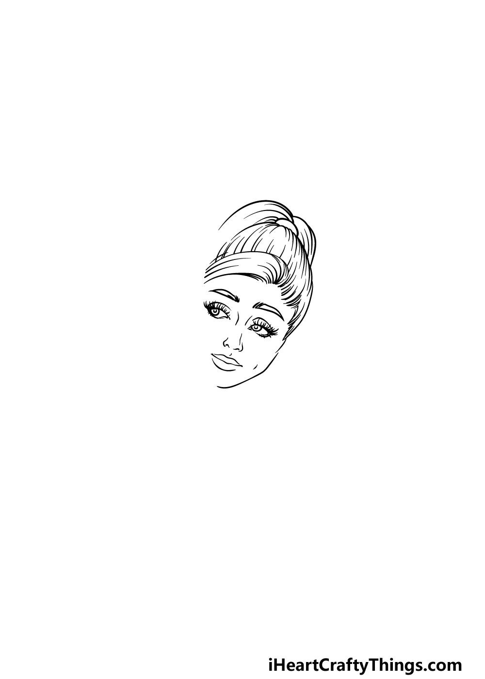 drawing Ariana Grande step 2