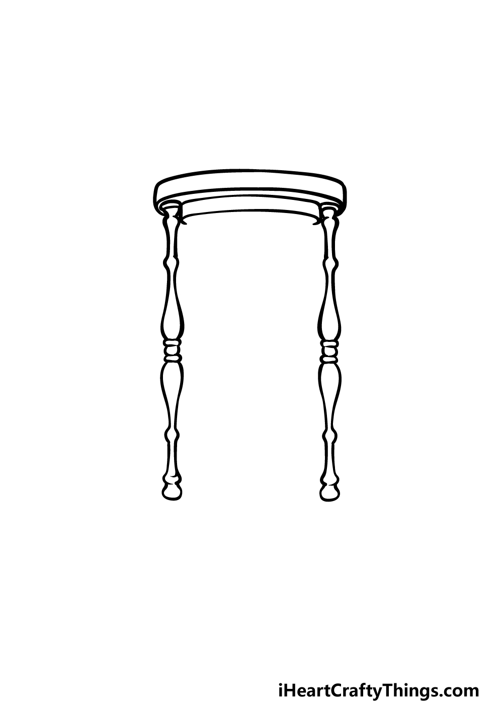 drawing an hourglass step 2