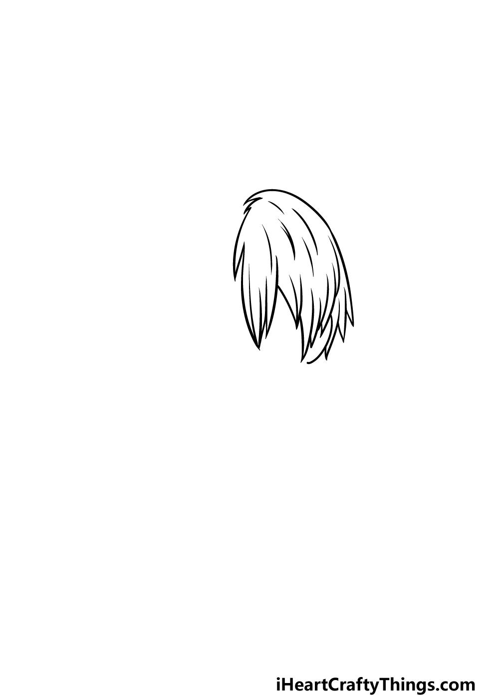 How To Draw Todoroki step 2