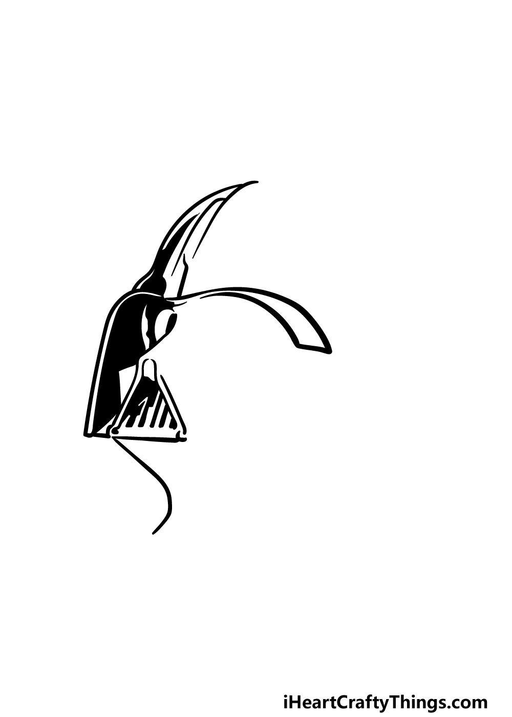 drawing Darth Vader step 2