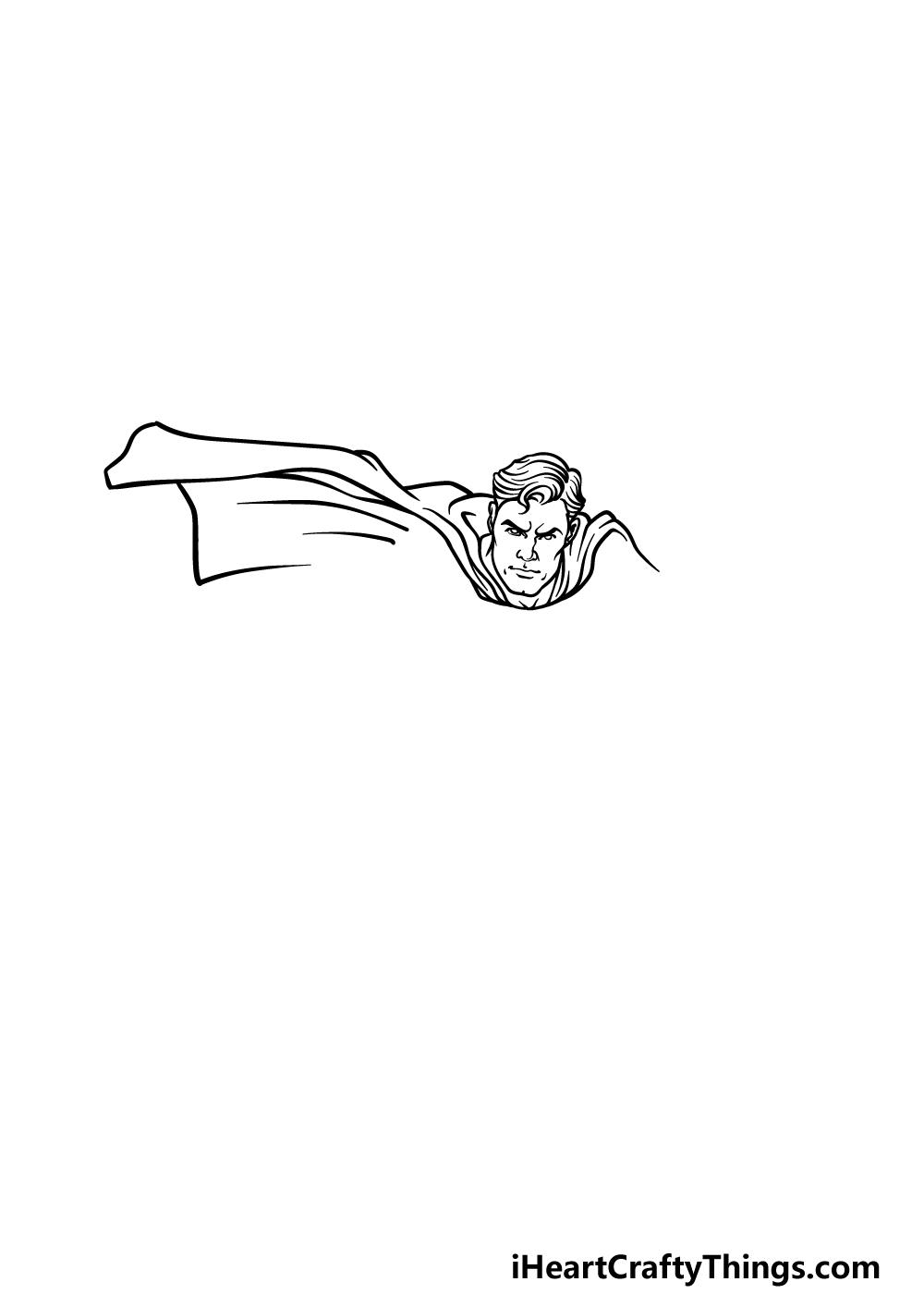 drawing Superman step 2