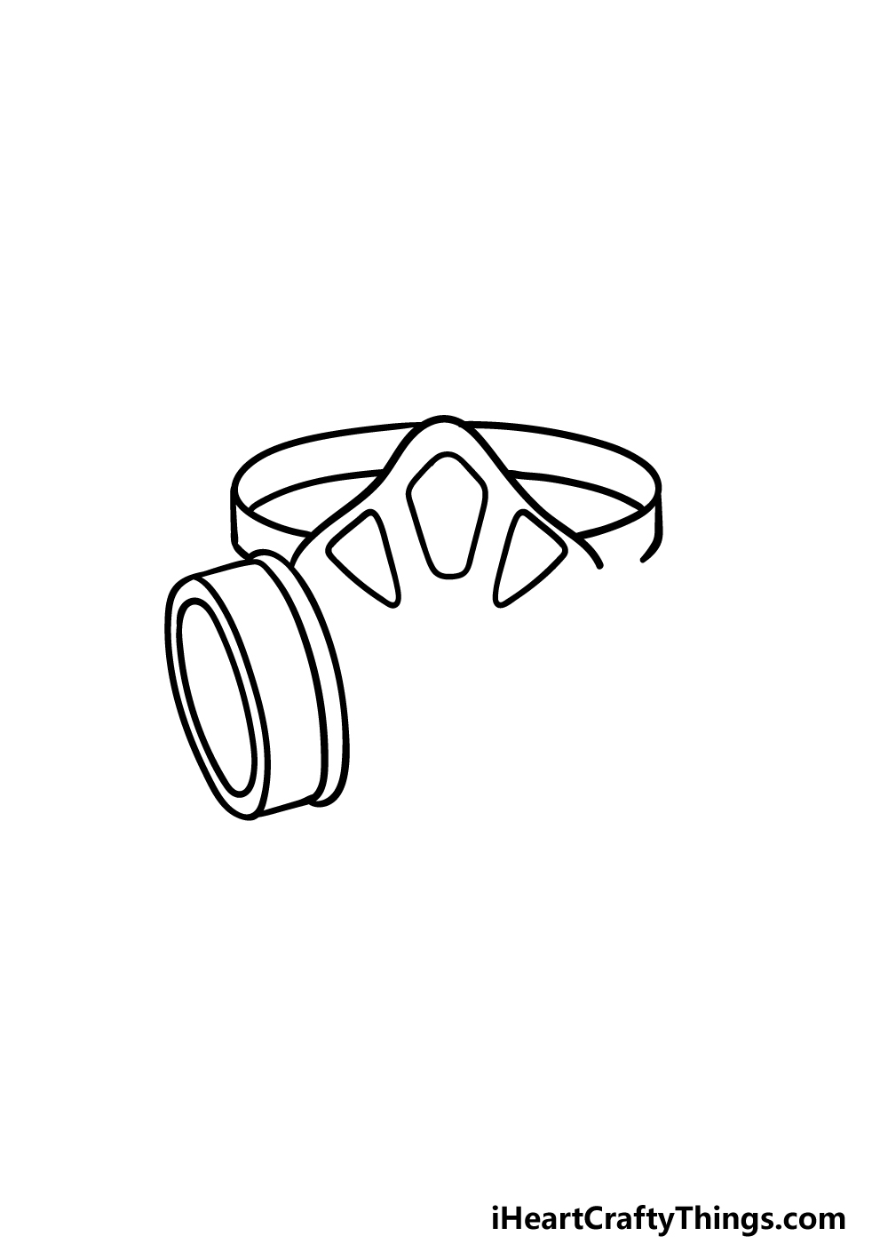 drawing Gas Mask step 2