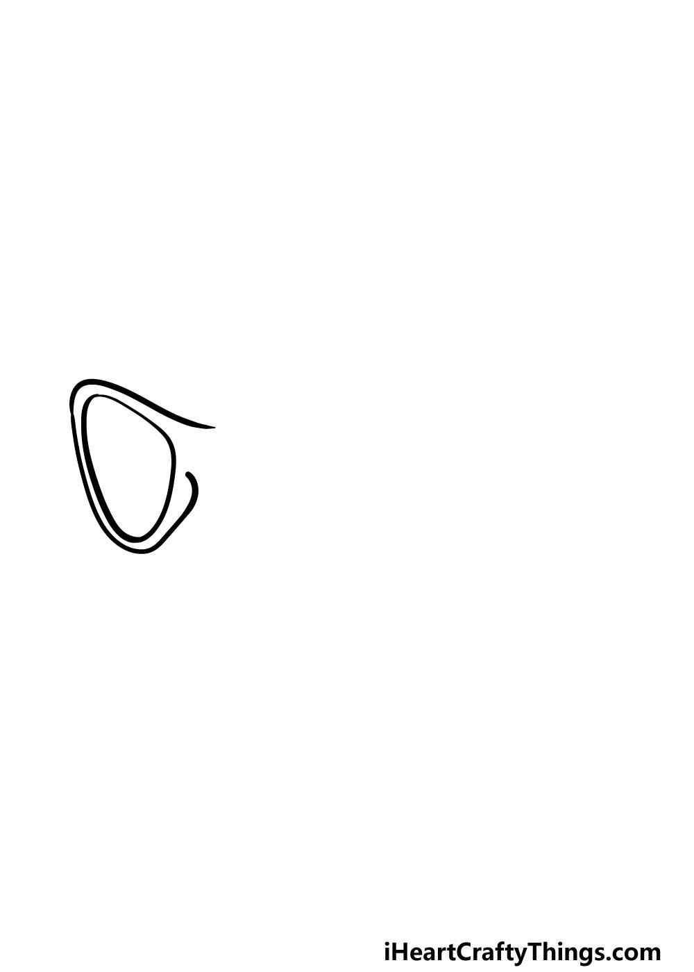 drawing sunglasses step 2
