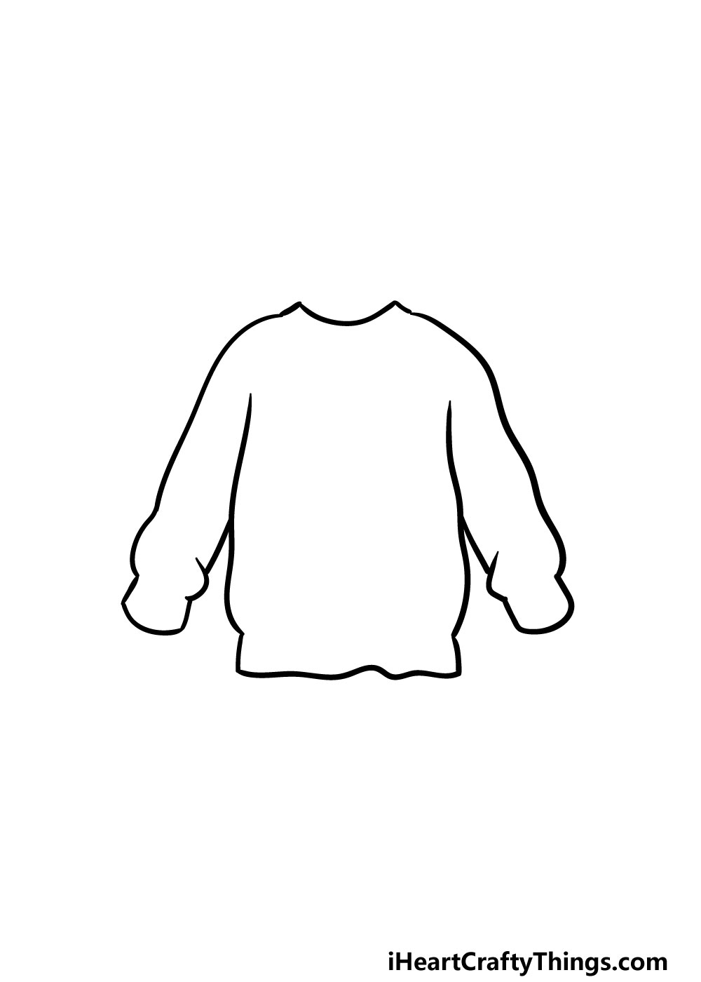 drawing a sweater step 2