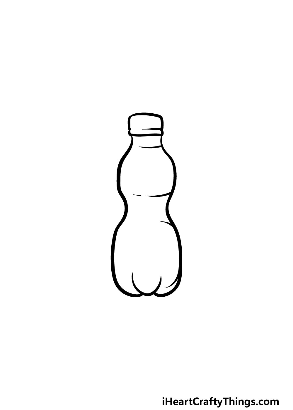 drawing a water bottle step 2