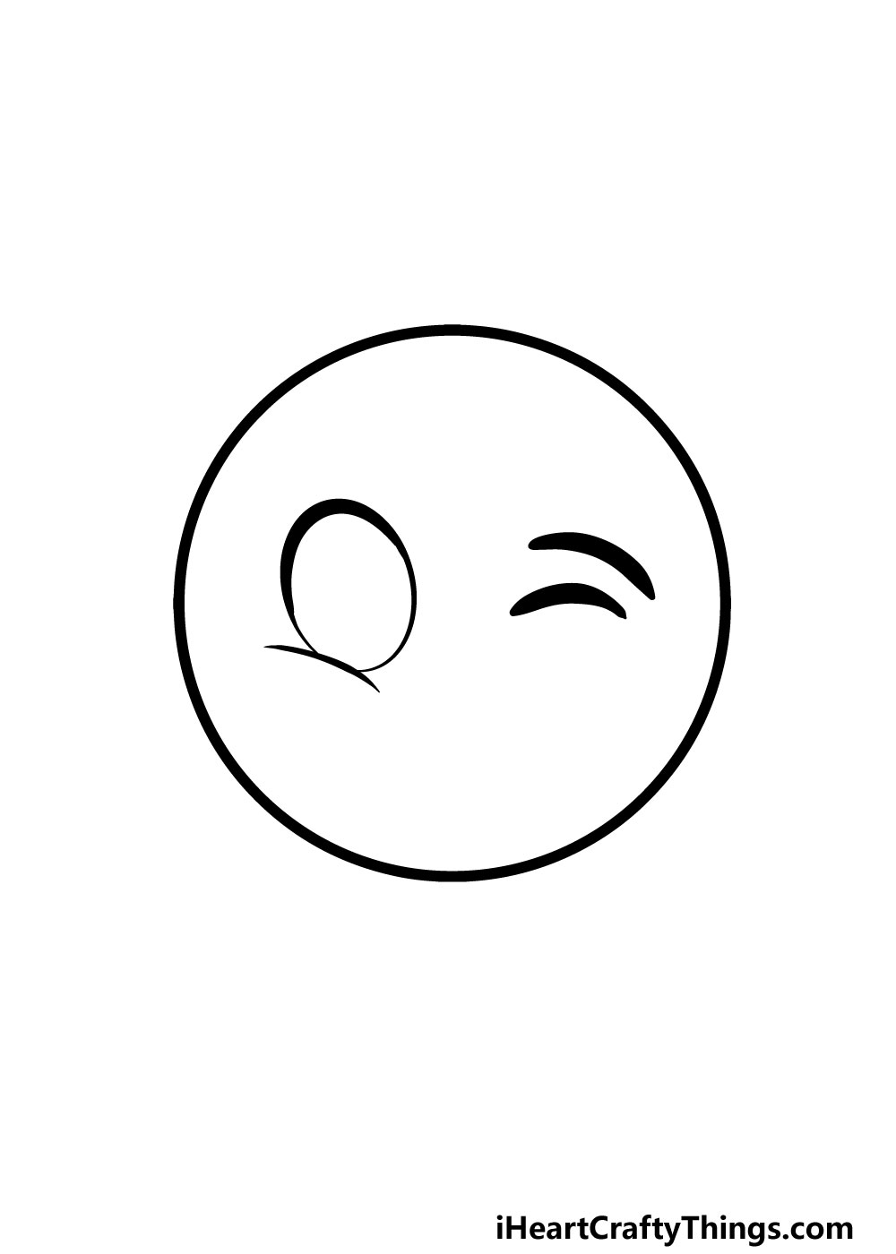 drawing a winky face step 2