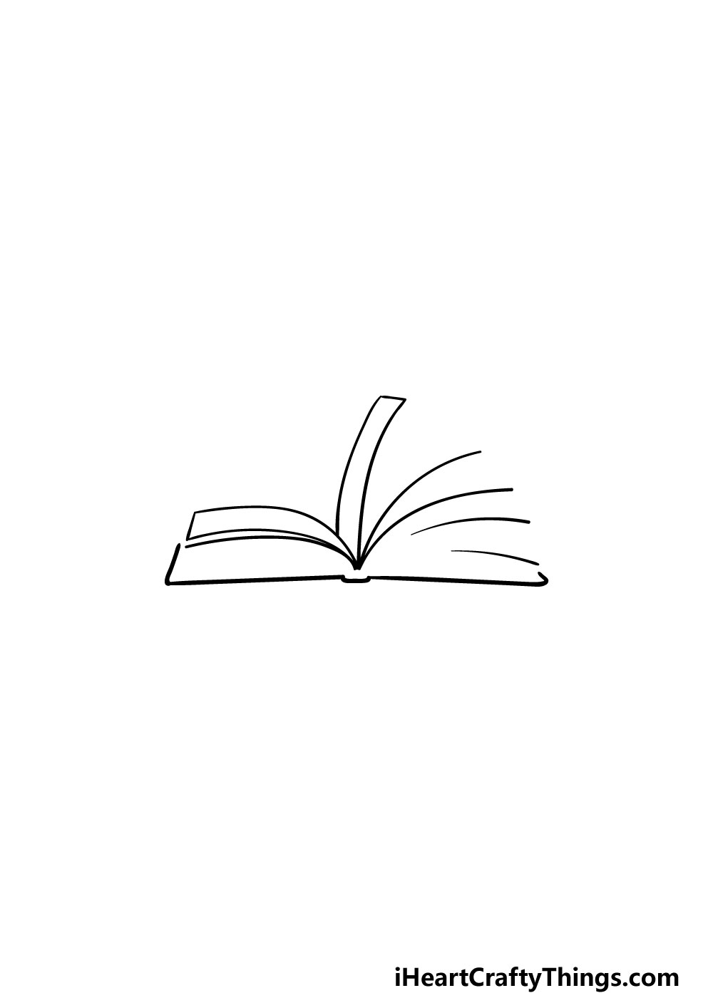 drawing an open book step 2