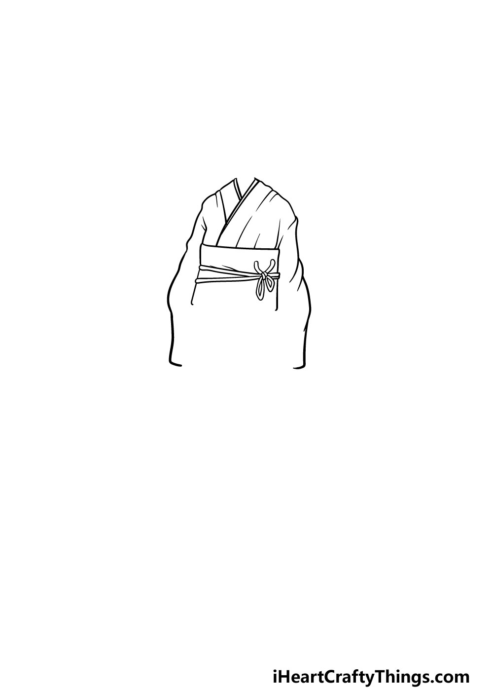 drawing anime clothes step 2