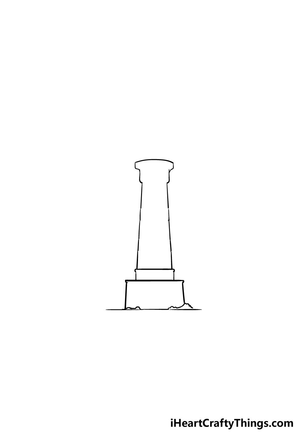 vẽ ngọn hải đăng bước 2