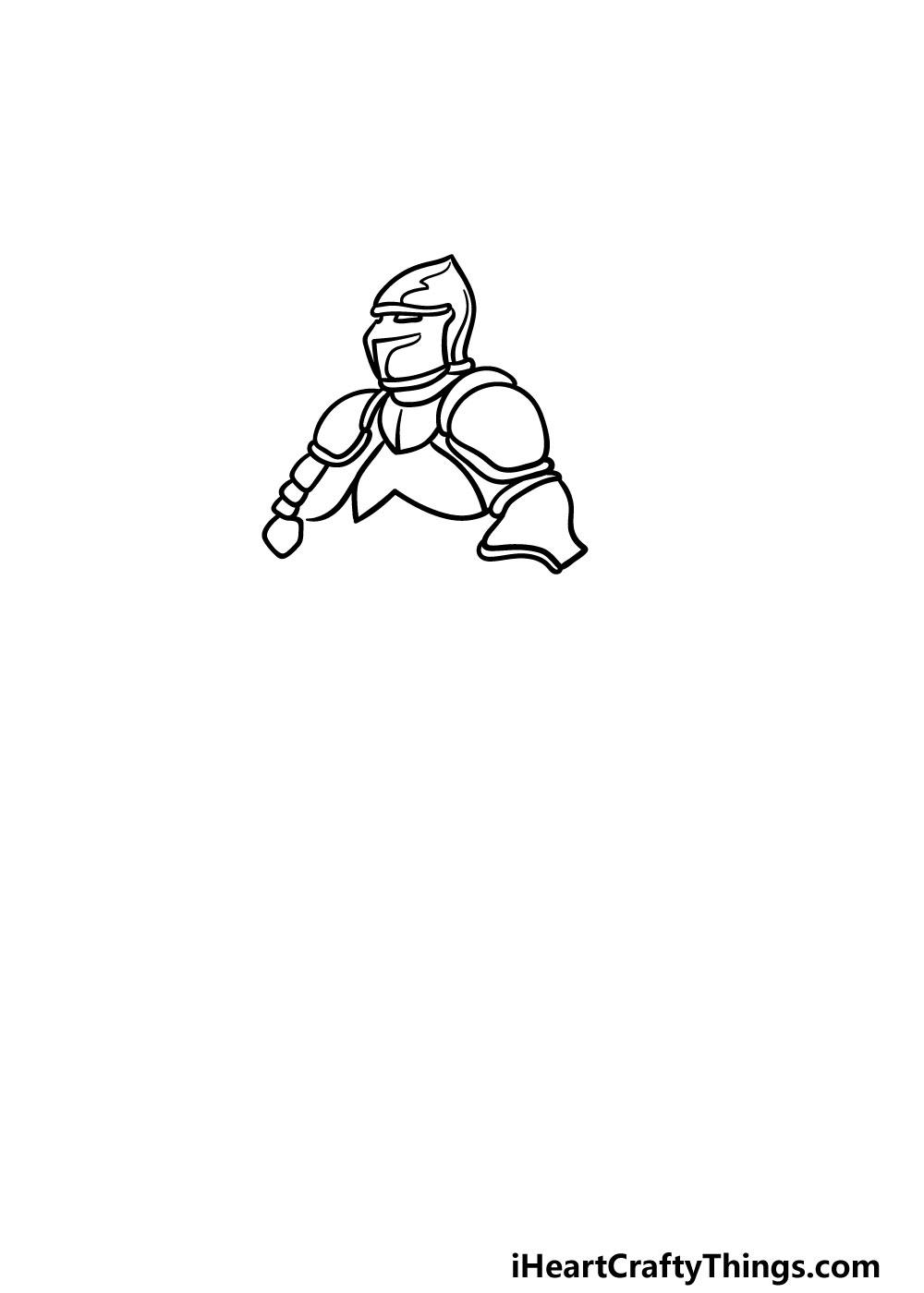 drawing armor step 2