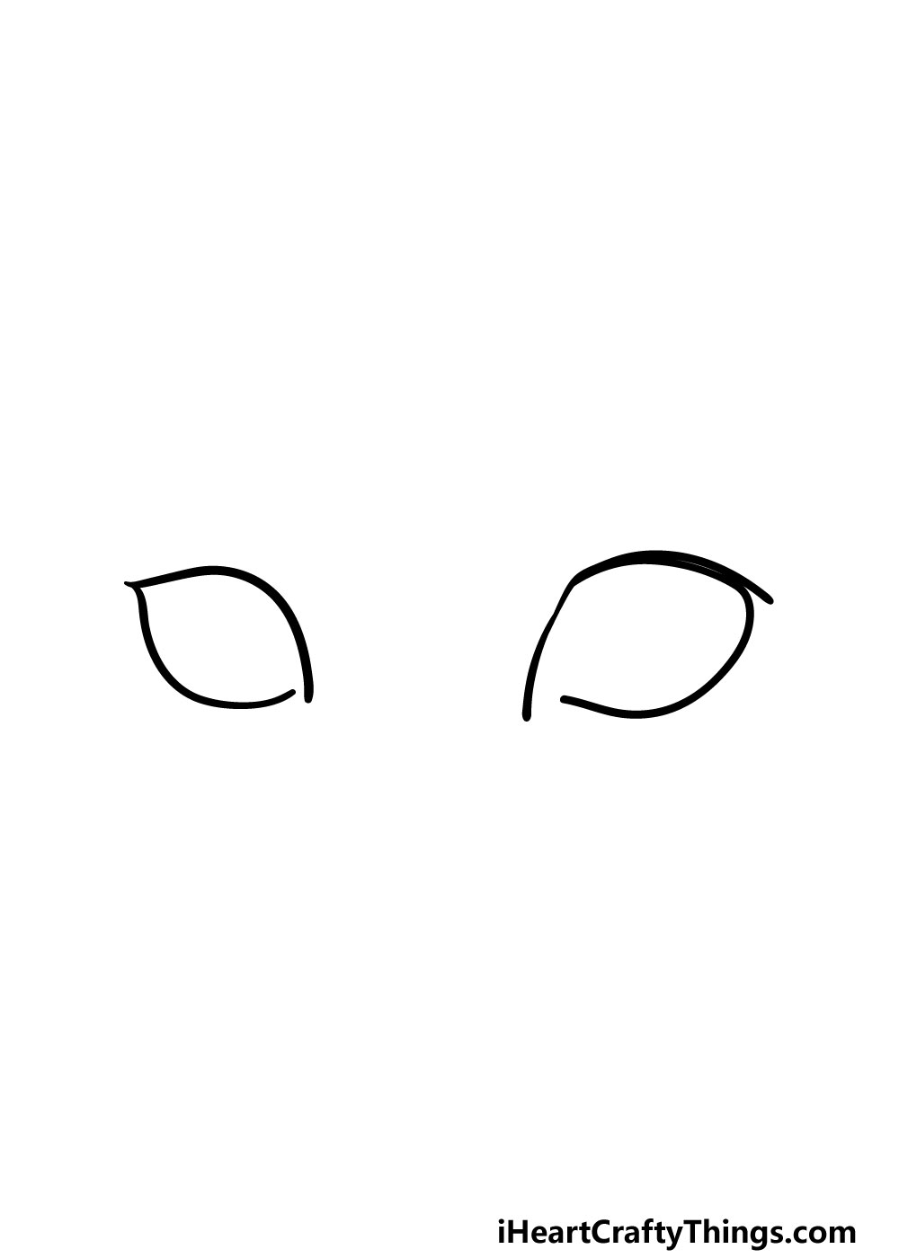 drawing cat's eyes step 2