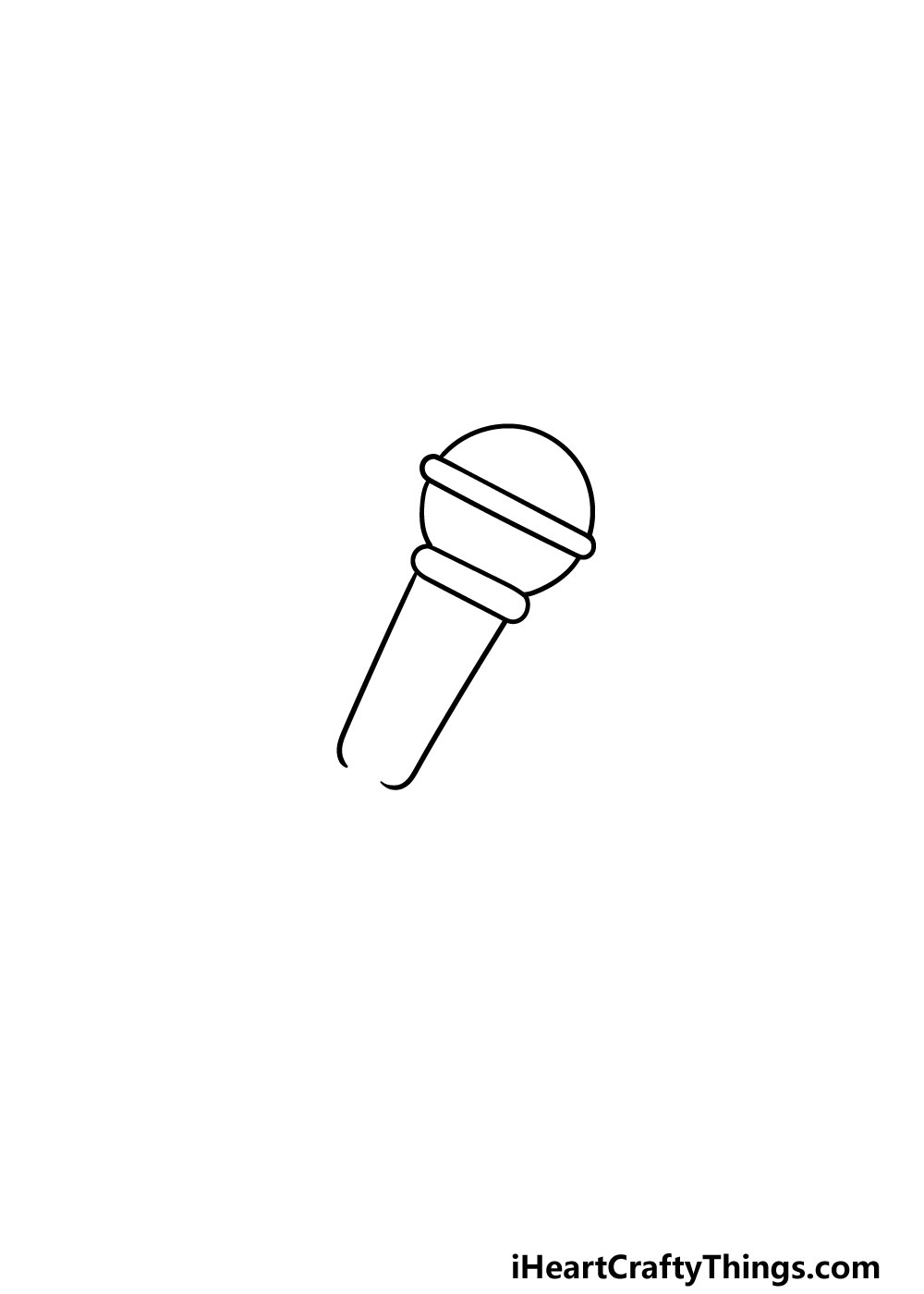drawing a microphone step 2