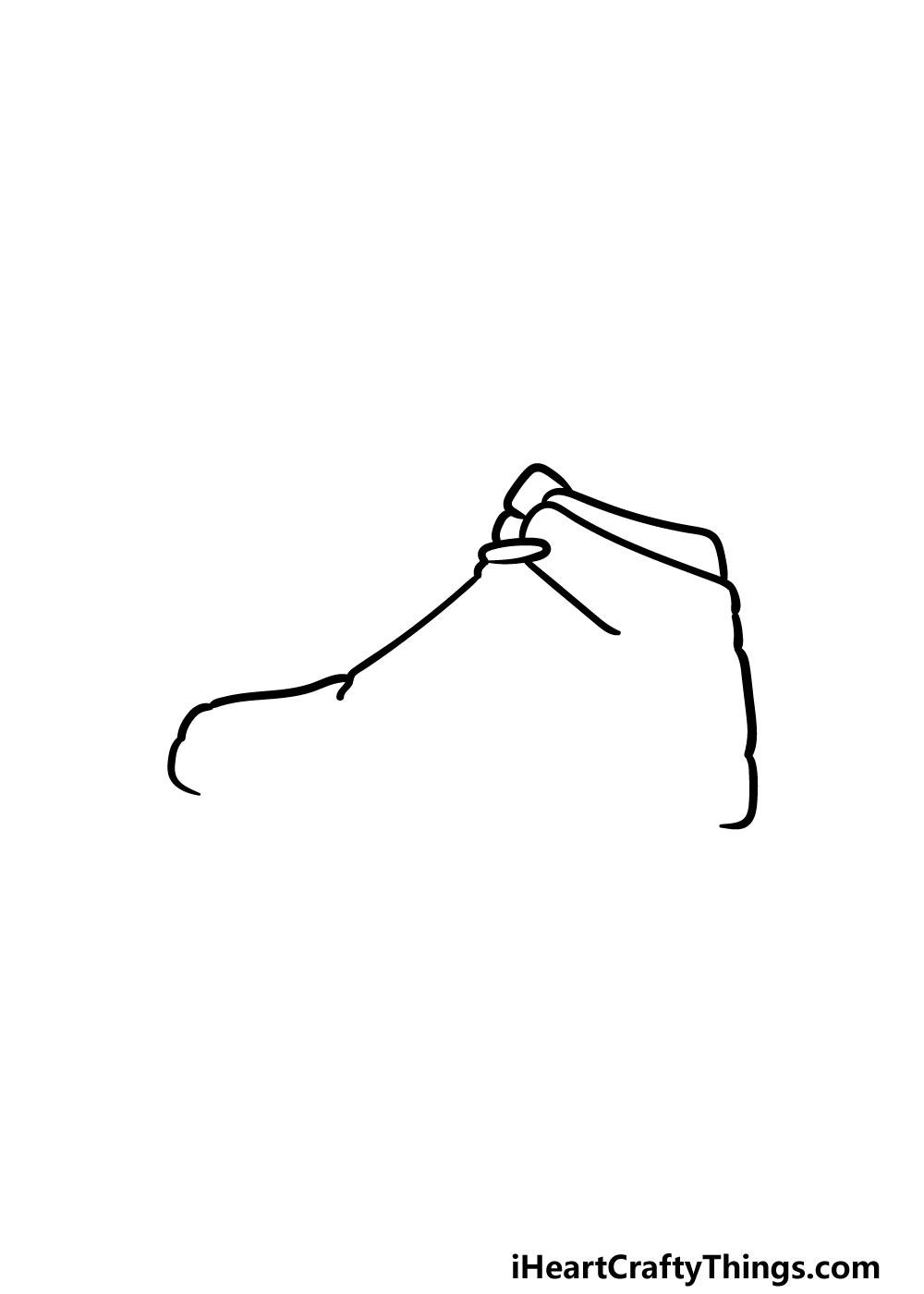 drawing air jordan shoes step 2