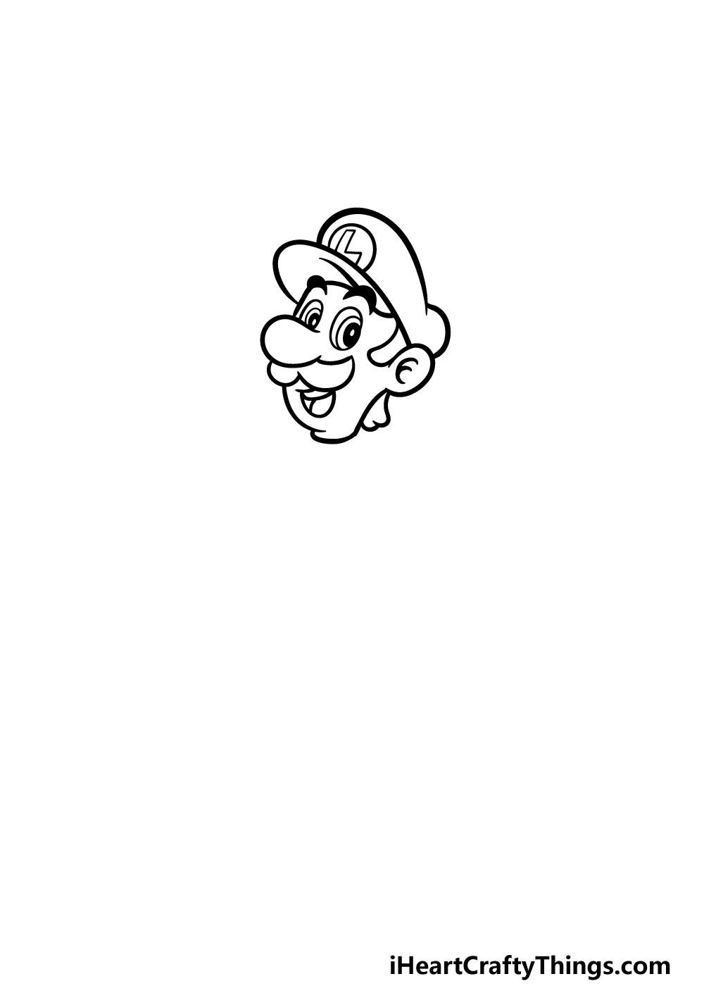 drawing luigi step 2