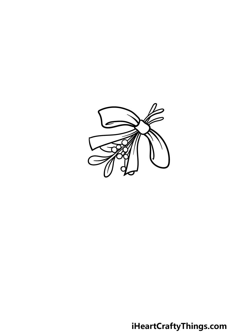 drawing a mistletoe step 2