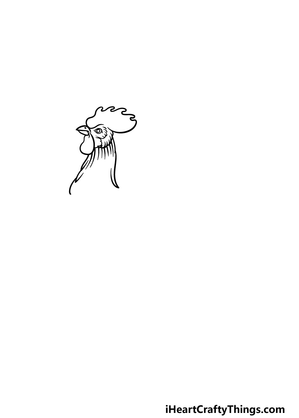 drawing a rooster step 2