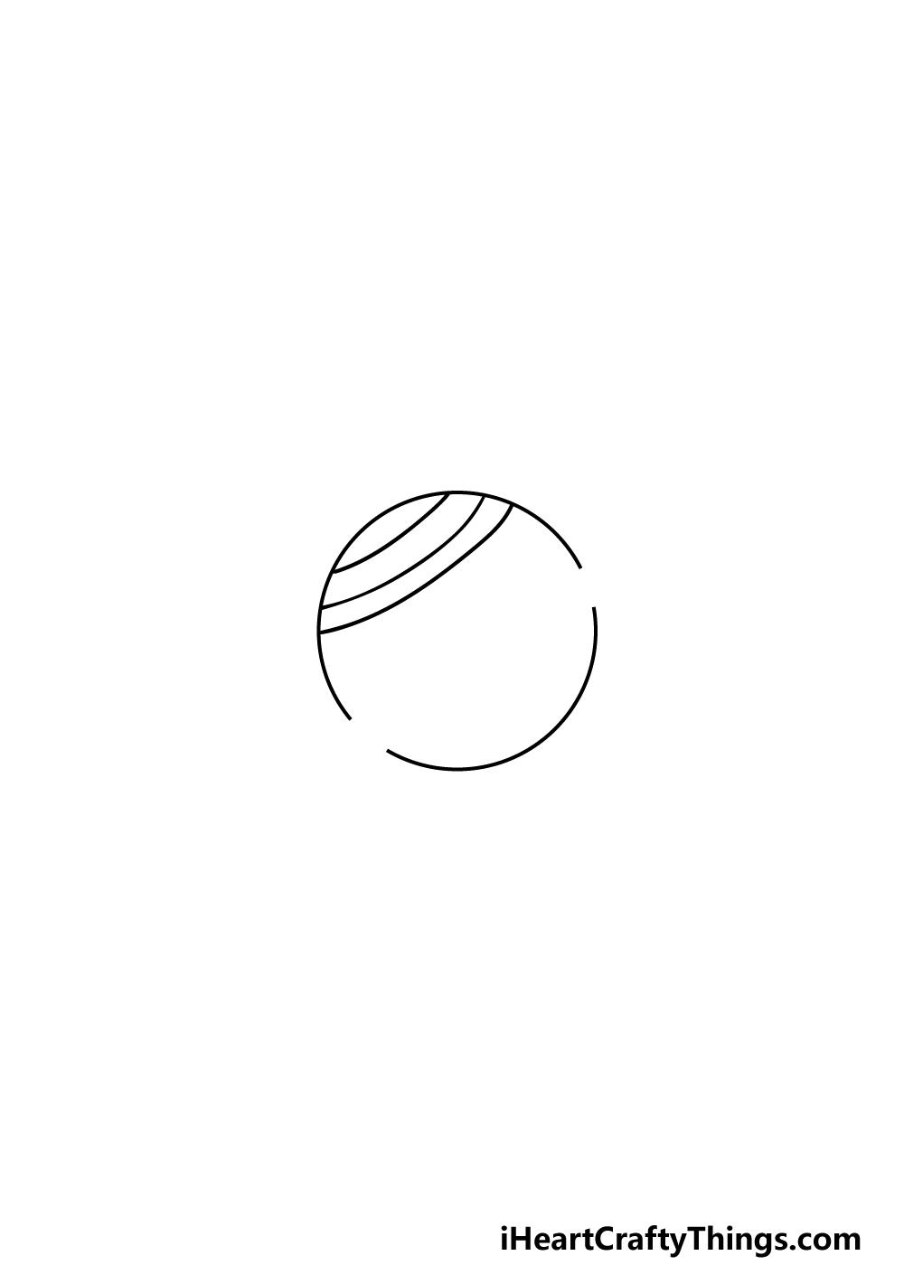 drawing Saturn step 2
