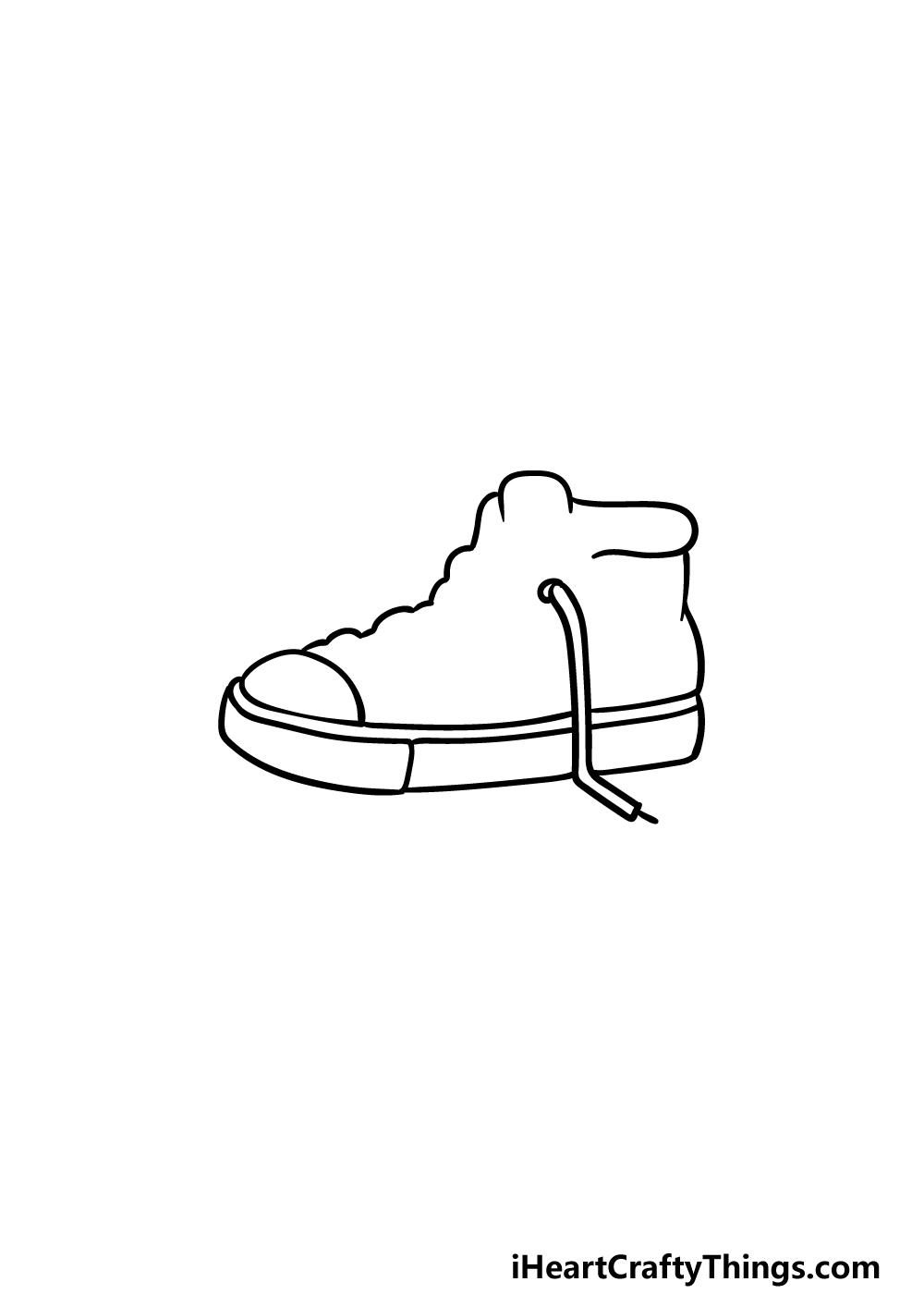 drawing sneakers step 2