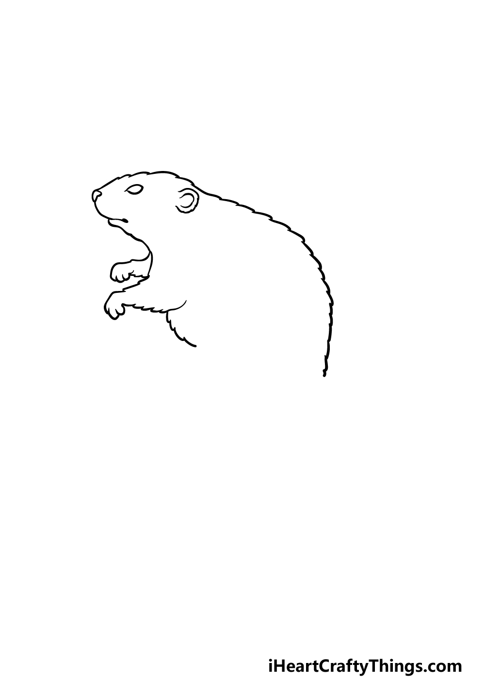 drawing a beaver step 2