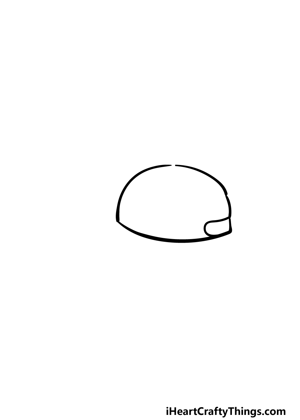 drawing a cap step 2
