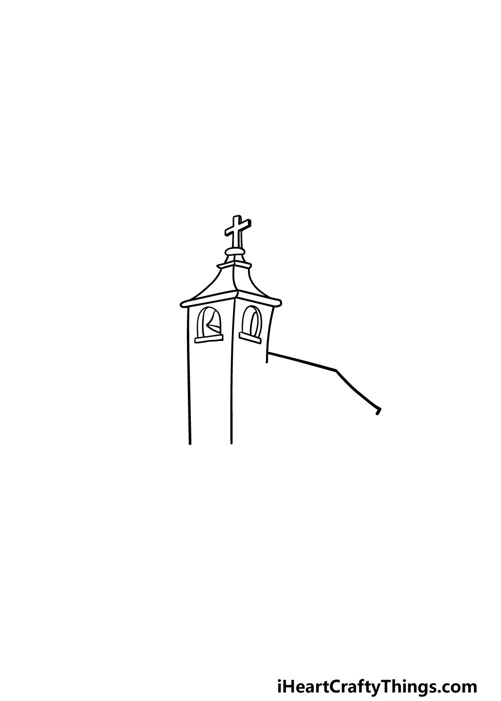drawing a church step 2