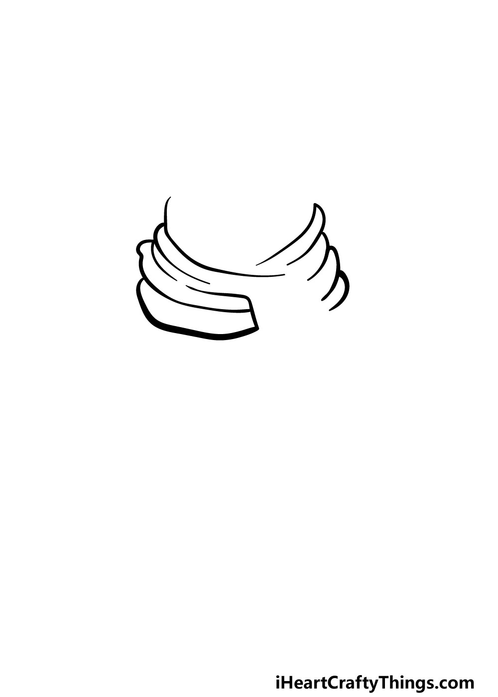 drawing a scarf step 2