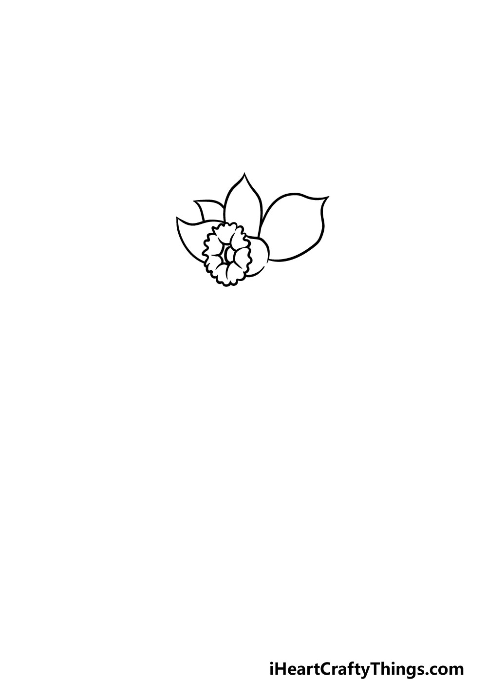 drawing a daffodil step 2
