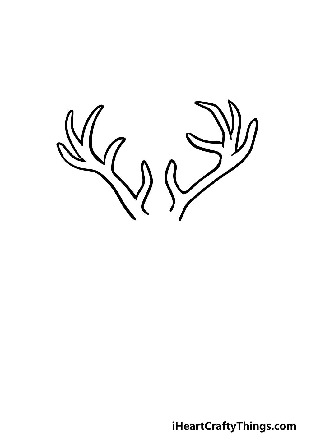 drawing deer's head step 2