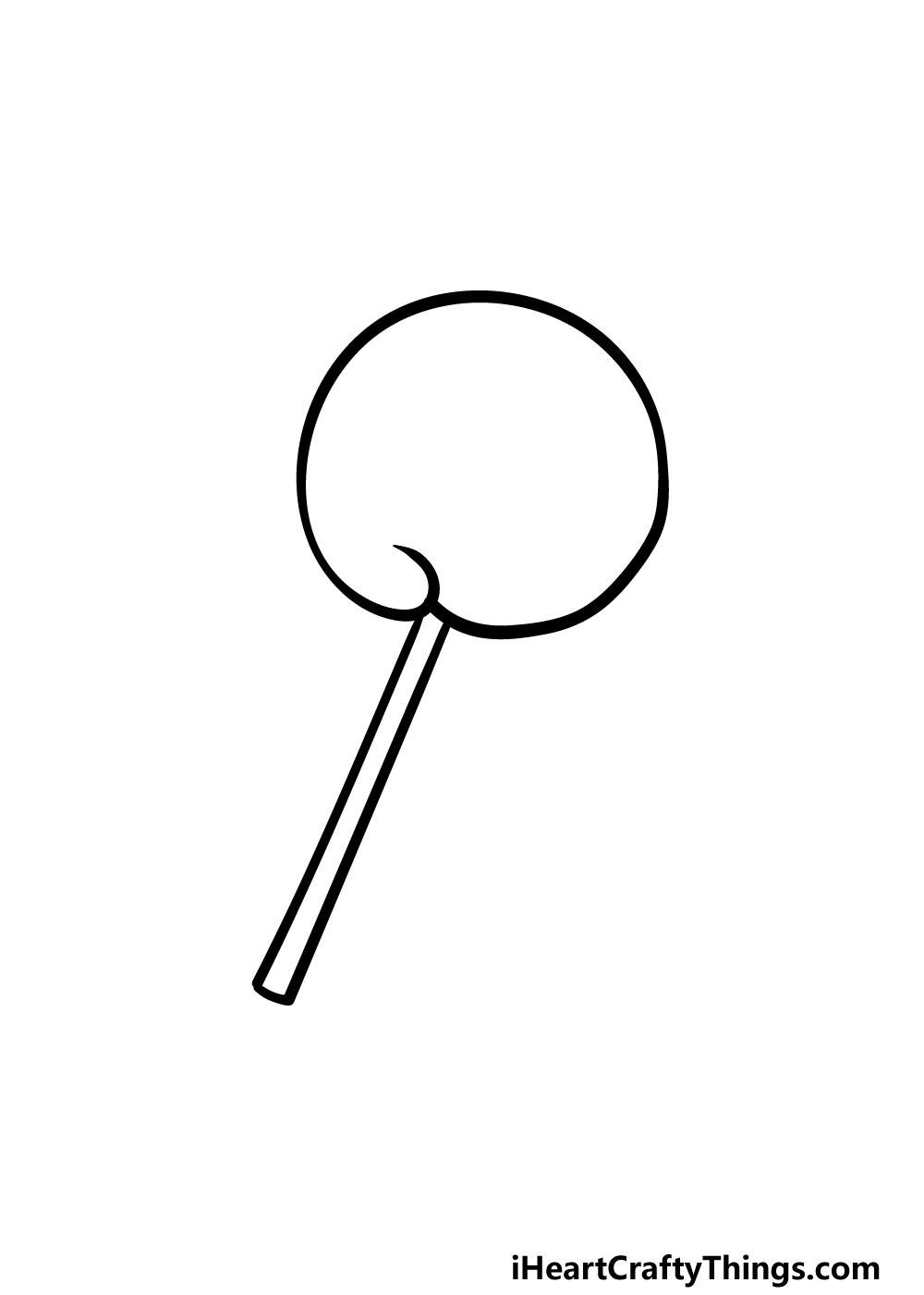drawing a lollipop step 2