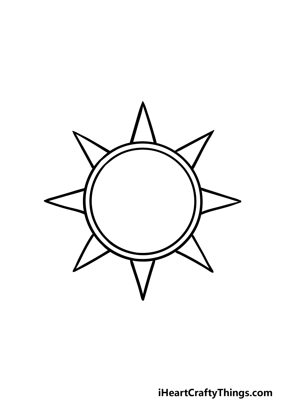 drawing sun and moon step 2