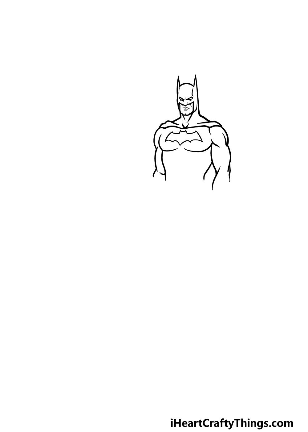 drawing Batman step 2